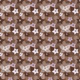 Seamless floral pattern in brown colors Stock Image