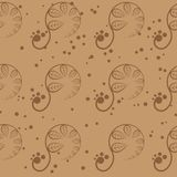 Seamless Floral Pattern. Seamless brown floral pattern. This is file of EPS10 format Royalty Free Stock Photography