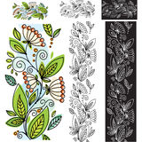 Seamless floral pattern. With pattern brush Stock Photography