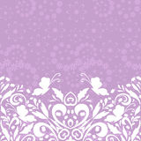 Seamless Floral Pattern with Butterflies Stock Photos