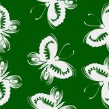 Seamless floral pattern butterfly Royalty Free Stock Image