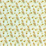 Seamless floral pattern canvas wallpaper Stock Image
