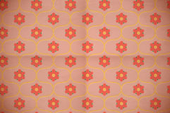 Seamless floral pattern on the cardboard Royalty Free Stock Photography