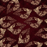 Seamless floral pattern with carnaval masks Royalty Free Stock Photo