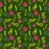 Seamless floral pattern for children. Bright seamless floral pattern in pink, blue, green and yellow colors Royalty Free Stock Photos