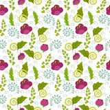 Seamless floral pattern for children. Bright seamless floral pattern in pink, blue, green and yellow colors Stock Image