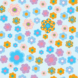 Seamless floral pattern in childrens style Stock Images