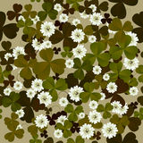 A seamless floral pattern with clovers Royalty Free Stock Photos
