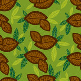 Seamless floral pattern with coffe. (From my big Seamless collection Royalty Free Stock Image