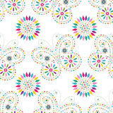 Seamless floral pattern with colorful butterflies Royalty Free Stock Images
