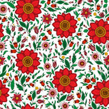 Seamless  floral pattern with colorful fantasy plants and Stock Photography