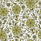 Seamless  floral pattern with colorful fantasy plants and Royalty Free Stock Photos