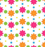 Seamless Floral Pattern with Colorful Flowers, Beautiful Pattern Stock Photos