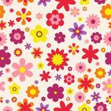 Seamless floral pattern. Colorful Flowers texture. Flowers flat style. Vector Illustration Royalty Free Stock Photography
