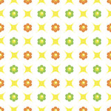 Seamless floral pattern. Seamless pattern with colourful flowers and rhombus Stock Photo