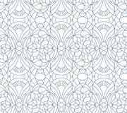 Seamless floral pattern. Composition of stylized flowers, leaves Royalty Free Stock Photos