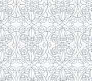 Seamless floral pattern. Composition of stylized flowers, leaves Stock Image