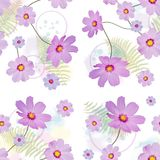 Seamless floral pattern stock illustration