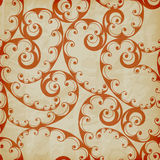Seamless Floral Pattern on Crumpled Paper Texture Royalty Free Stock Photo