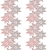Seamless floral pattern with cute cartoon brown flowers backgrou Royalty Free Stock Image