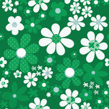 Seamless floral pattern with cute cartoon flowers background Royalty Free Stock Images