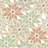Seamless floral pattern with cute cartoon flowers background Royalty Free Stock Photo