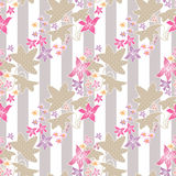 Seamless floral pattern with cute cartoon flowers background Stock Image