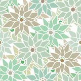 Seamless floral pattern with cute cartoon flowers print backgrou Royalty Free Stock Photos
