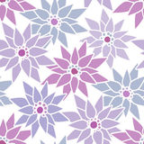 Seamless floral pattern with cute cartoon flowers print backgrou Stock Photos