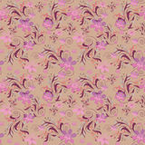 Seamless floral pattern with cute flowers background Stock Photos