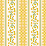 Seamless floral pattern ,cute flowers on white background, striped, Royalty Free Stock Photo