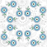 Seamless floral pattern, decorative background Royalty Free Stock Image