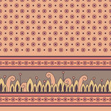 Seamless floral pattern with decorative border Royalty Free Stock Image
