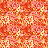 Seamless floral pattern with decorative elements Royalty Free Stock Photos
