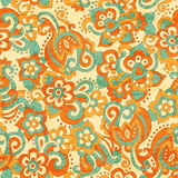 Seamless floral pattern in doodling stile Royalty Free Stock Photos