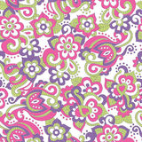 Seamless floral pattern in doodling stile Royalty Free Stock Photo
