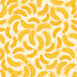 Seamless floral pattern with ear of wheat Royalty Free Stock Images