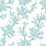 Seamless floral pattern. Easily editable, objects in the center not cut, every flower and leaf is a separate group Stock Images