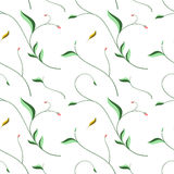 Seamless floral pattern with elegant stylized leaves  Royalty Free Stock Photos