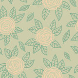 Seamless floral pattern. Seamless elegant vector floral pattern Stock Photography