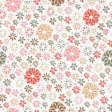 Seamless floral pattern, endless background Stock Images