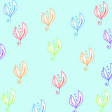 Seamless floral pattern for fabrick or babyroom in rainbow collo Royalty Free Stock Photos