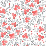 Seamless floral pattern with flower branch 20. Hand-drawn floral background. Seamless  pattern Royalty Free Stock Image