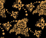Seamless floral pattern with flower and Royalty Free Stock Images