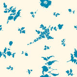 Seamless floral pattern with flower elements Stock Images
