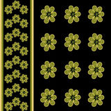 Seamless floral pattern with flowers background Royalty Free Stock Photos