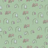 Seamless floral pattern with flowers bells. stock illustration