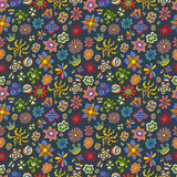 Seamless floral pattern. Of flowers of different colors vector illustration