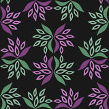 Seamless floral pattern. Flowers and leaf texture. Stock Photo