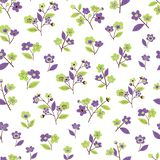 Seamless floral pattern with flowers of sakura stock illustration